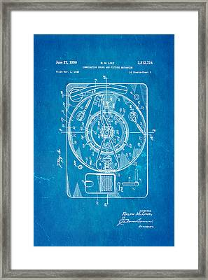 Like Sound And Picture Player 2 Patent Art 1950 Blueprint Framed Print