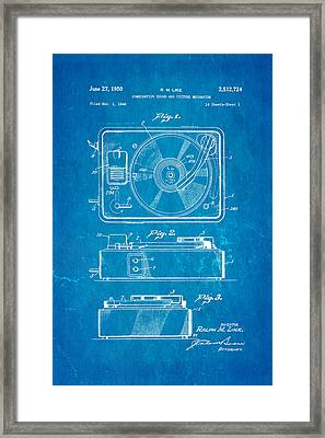 Like Sound And Picture Player Patent Art 1950 Blueprint Framed Print