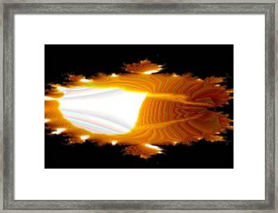 Like The Eye Of A Dragon Framed Print by Jeff Swan