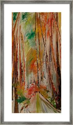 Like The Trees Always Looking Up Framed Print by PainterArtist FIN