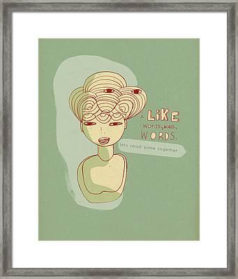 Like Words Framed Print by Lisa Barbero