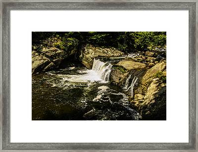 Lil Bald River Falls Framed Print by Marilyn Carlyle Greiner