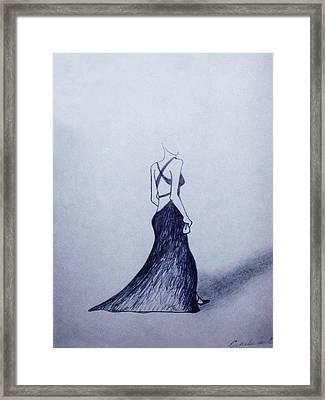 Lil' Black Dress Framed Print