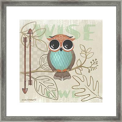 Lil Boys Owl Framed Print by Anita Phillips
