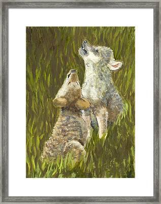 Li'l Howlers Framed Print