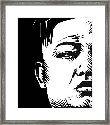 Lil' Kim Framed Print by Phil Wooley