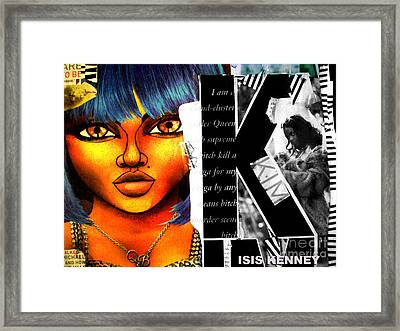 Lil Kim The Making Of A Queen Bee Framed Print by Isis Kenney