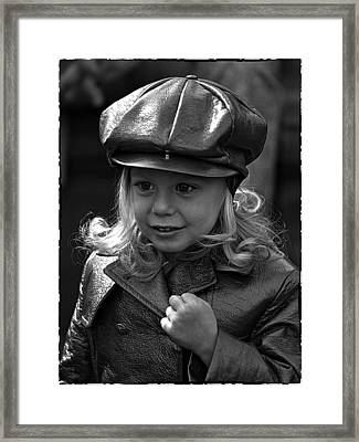 Lil Miss Leather Framed Print by Hal Norman K