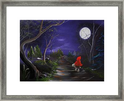 Lil Red Riding Hood Framed Print by RJ McNall