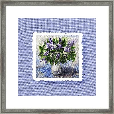 Lilac Bouquet  Framed Print