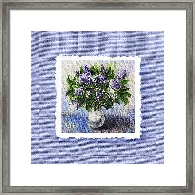 Lilac Bouquet  Framed Print by Irina Sztukowski