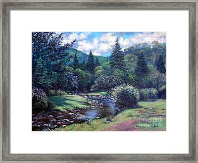 Lilac Brook Framed Print by Gerard Natale