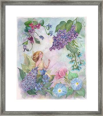 Lilac Enchanting Flower Fairy Framed Print