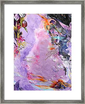 Lilac Goldfish Framed Print by Lucia Hoogervorst