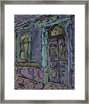 Lilac House  Framed Print