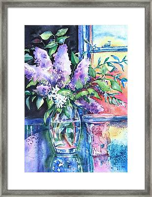 Lilac Light Framed Print by Trudi Doyle