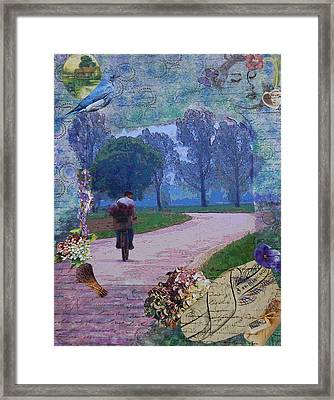 Framed Print featuring the mixed media Lilac Man by Tamyra Crossley