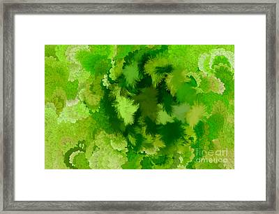 Lilac Of The Valley Green White Framed Print by Holley Jacobs
