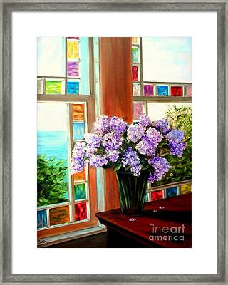 Lilac Reflections Framed Print