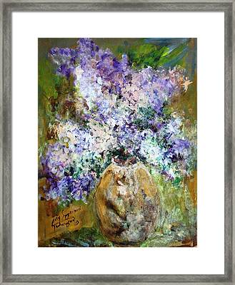 Lilac Time Framed Print by Mary Spyridon Thompson