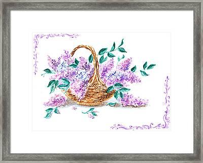 Lilac Vintage Impressionism Painting Framed Print by Irina Sztukowski