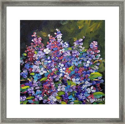 Lilac_burst_by_prankearts Framed Print by Richard T Pranke