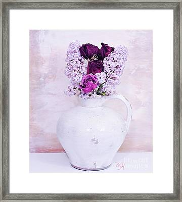 Lilacs And Roses Framed Print by Marsha Heiken