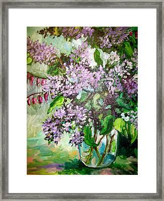 Lilacs Framed Print by Carol Mangano