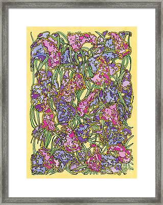 Lilacs Electric Framed Print by Mag Pringle Gire