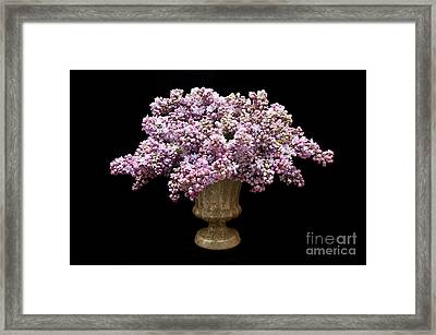 Lilacs In A Green Vase - Flowers - Spring Bouquet Framed Print by Andee Design