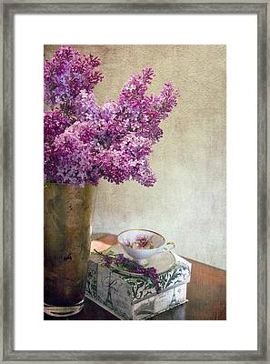 Lilacs In Vase 3 Framed Print