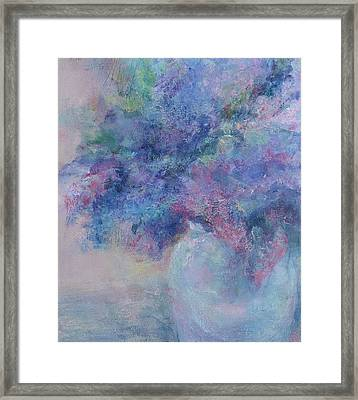 Lilacs Framed Print by Laurie VanBalen