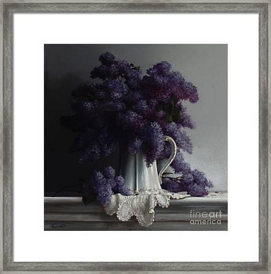 Lilacs Study No.2 2011 Framed Print by Larry Preston