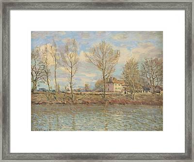 Ile De La Grande Jatte, Neuilly Sur Seine Framed Print by Alfred Sisley