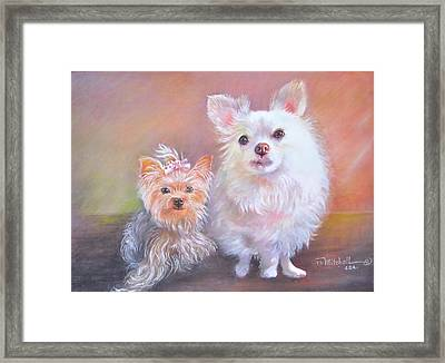 Lili And Tenti Framed Print by Patricia Schneider Mitchell