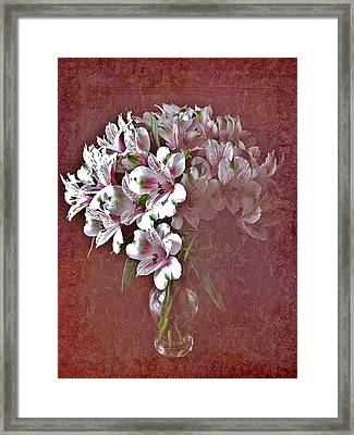 Framed Print featuring the photograph Lilies In Vase by Diane Alexander