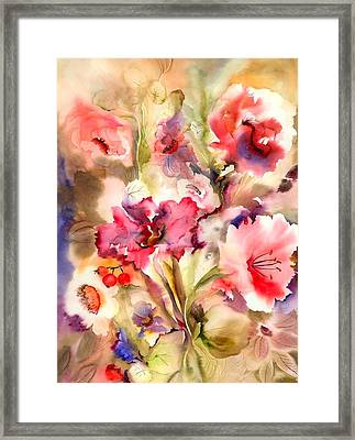 Lilies Framed Print by Neela Pushparaj