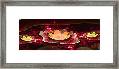 Lilies On Lava Bed Framed Print by Ester  Rogers