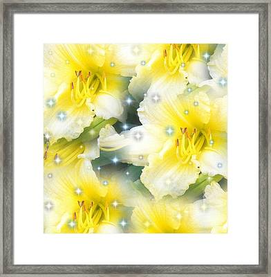 Framed Print featuring the  Lilies Photograph By Saribelle Rodriguez by Saribelle Rodriguez
