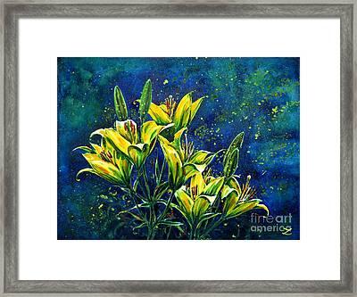 Lilies Framed Print by Zaira Dzhaubaeva