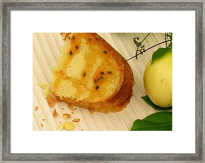 Lilikoi Lime Pound Cake Framed Print