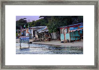 Liliput Craft Village And Bar Framed Print