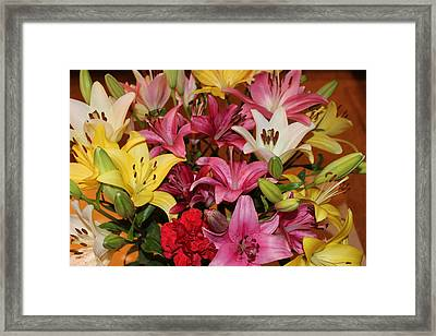 Framed Print featuring the photograph Lilies by John Mathews