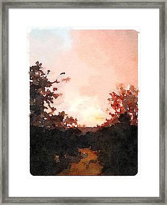Lilley Mountain Sunset Framed Print by Shannon Grissom