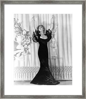 Lillian Bond Looking Elegant Framed Print by Underwood Archives