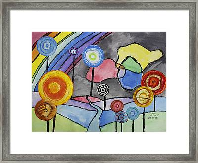 Lollipops And Rainbow  Framed Print by Ethan Altshuler