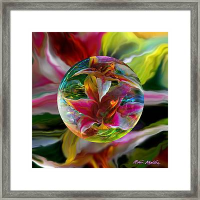 Lillium Bulbiferum Framed Print by Robin Moline