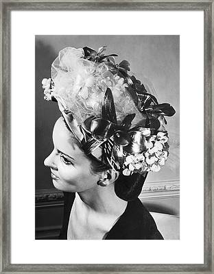 Lilly Dache Hat Framed Print