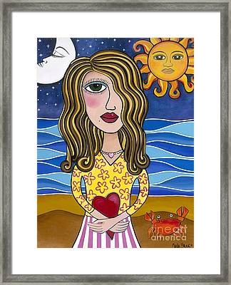Framed Print featuring the painting Lilly Loves Florida by Carla Bank