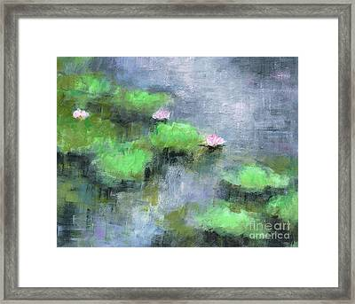 Water Lilly's  Framed Print by Frances Marino